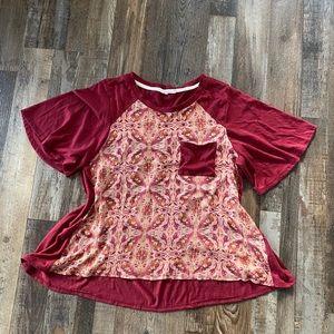 Hint of mint dress top